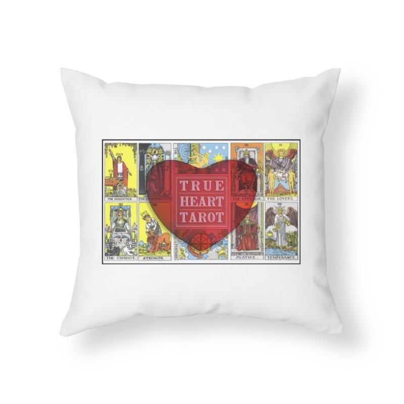 True Heart Tarot in Throw Pillow by True Heart by Rachel True