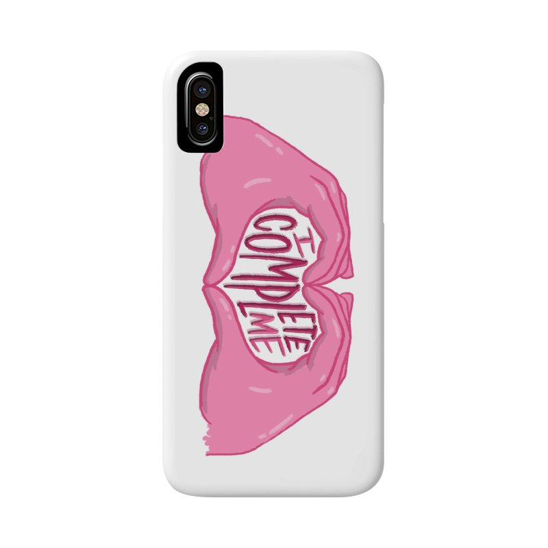 I Complete Me in iPhone X Phone Case Slim by Tumblr Creatrs