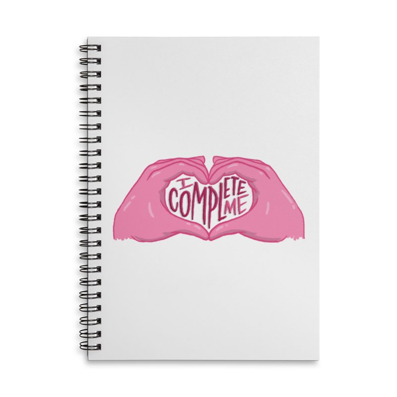 I Complete Me in Lined Spiral Notebook by Tumblr Creatrs