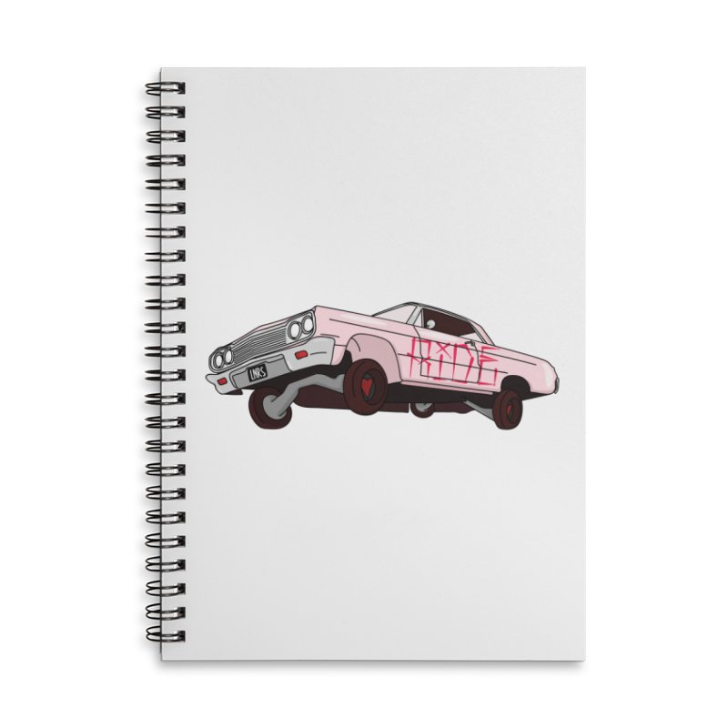 Ride in Lined Spiral Notebook by Tumblr Creatrs