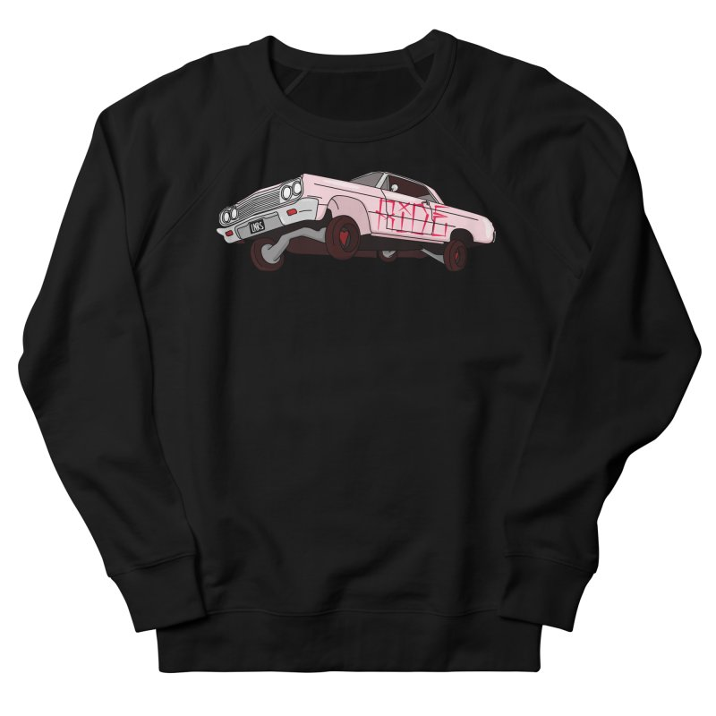 Ride in Men's French Terry Sweatshirt Black by Tumblr Creatrs