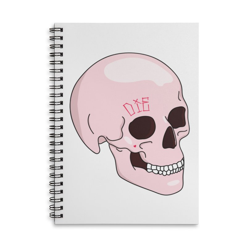 Die in Lined Spiral Notebook by Tumblr Creatrs