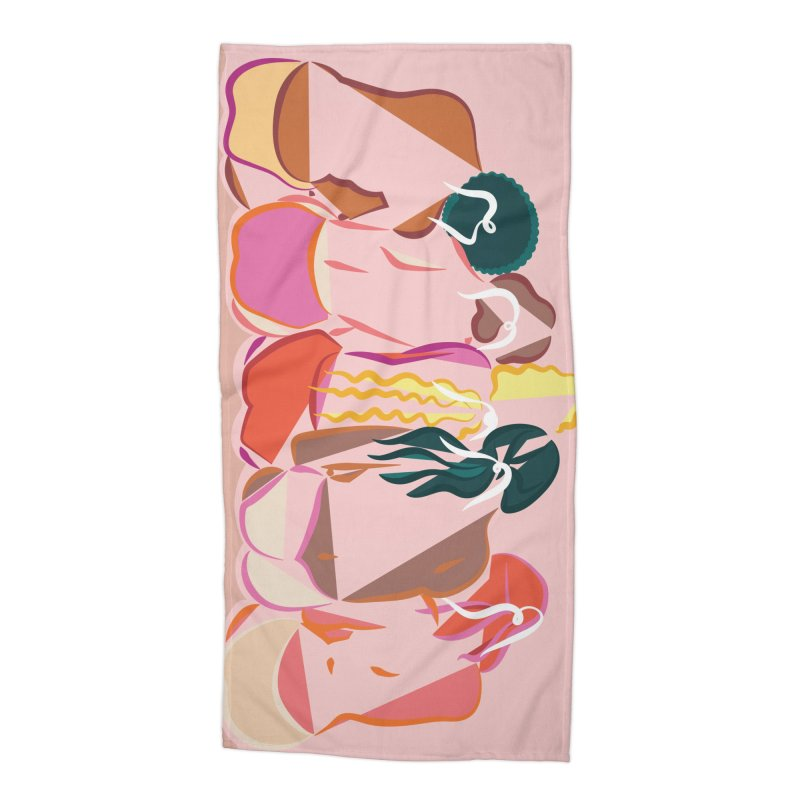 Galentines Accessories Beach Towel by Tumblr Creatrs