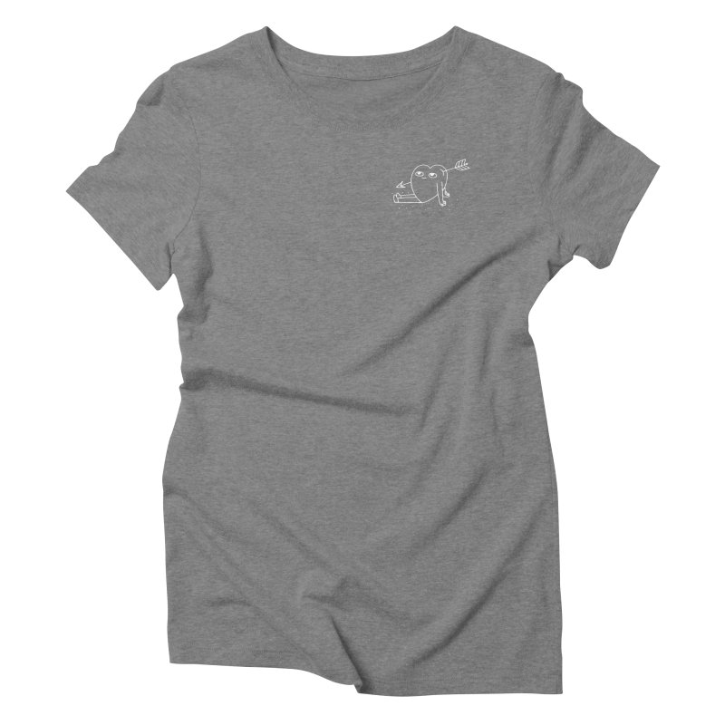Heart w/ Arrow Women's Triblend T-Shirt by Tumblr Creatrs