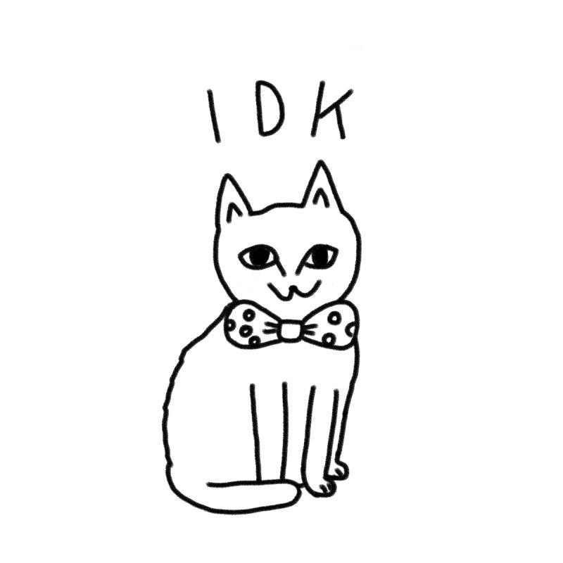 IDK Cat by Tumblr Creatrs