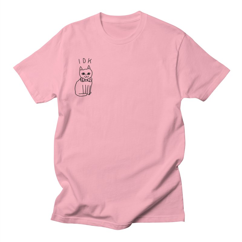 IDK Cat in Men's Regular T-Shirt Light Pink by Tumblr Creatrs