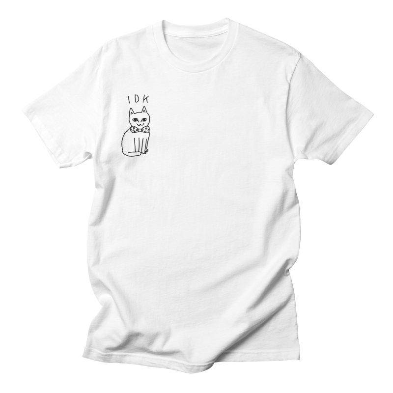 IDK Cat Men's T-Shirt by Tumblr Creatrs