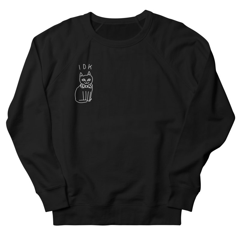 IDK Cat in Men's French Terry Sweatshirt Black by Tumblr Creatrs