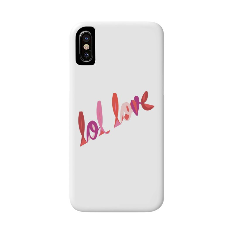 LOL Love in iPhone X / XS Phone Case Slim by Tumblr Creatrs