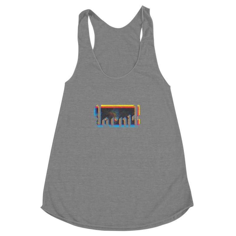 darnit - Curse Calligraphy Women's Racerback Triblend Tank by HappyGhost's Shop