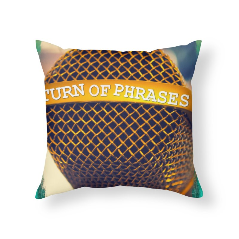 Logo swag Home Throw Pillow by TurnOfPhrases's Artist Shop