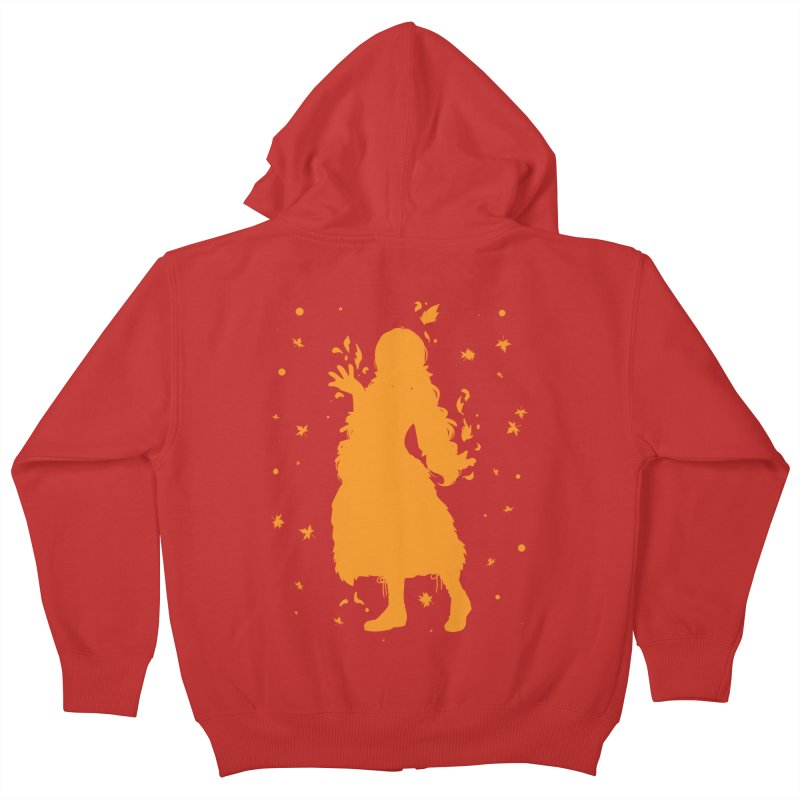 Autumn Power Kids Zip-Up Hoody by TurningTideStudio's Artist Shop