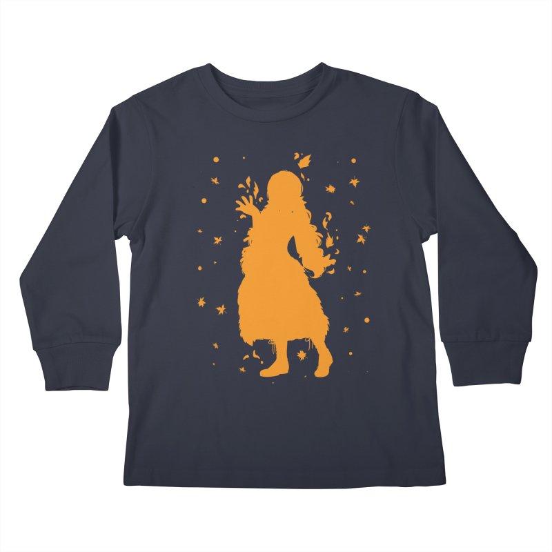Autumn Power Kids Longsleeve T-Shirt by TurningTideStudio's Artist Shop