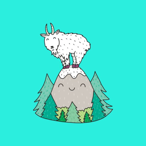 image for On Top of the Mountain Goat