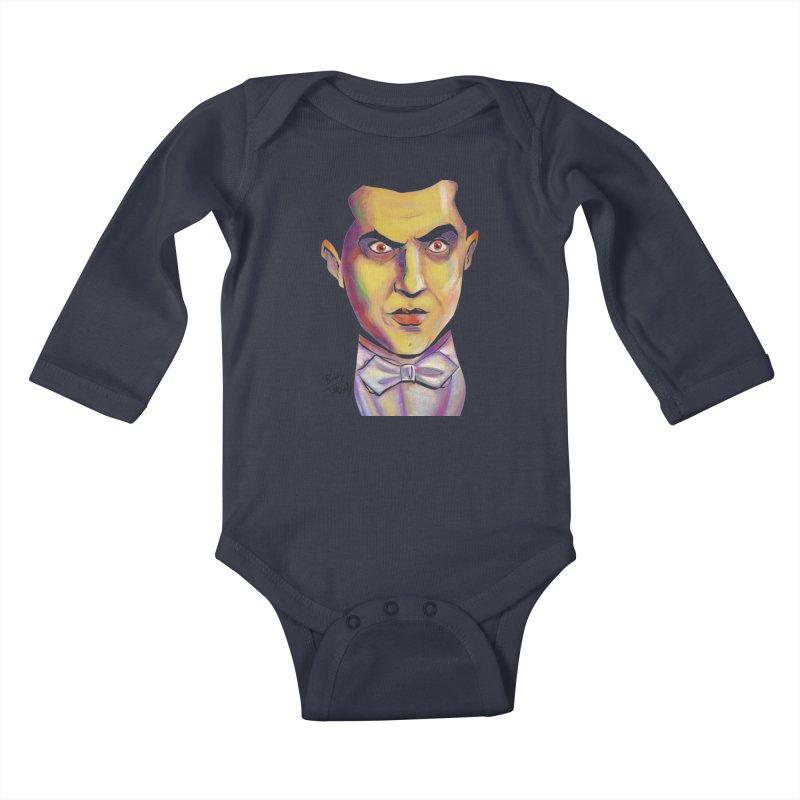 Dracula Kids Baby Longsleeve Bodysuit by Twin Comics's Artist Shop