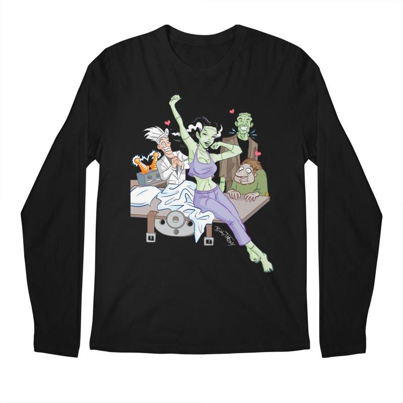 Bride of Frankenstein Pin Up Men's Regular Longsleeve T-Shirt by Twin Comics's Artist Shop