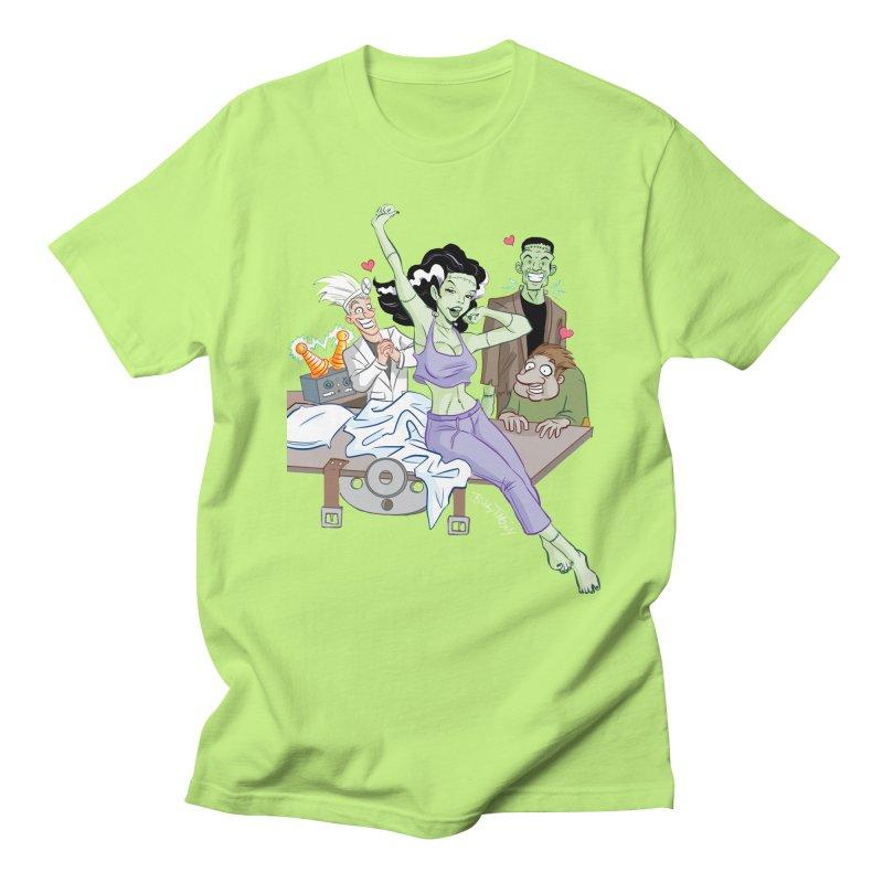Bride of Frankenstein Pin Up Men's Regular T-Shirt by Twin Comics's Artist Shop