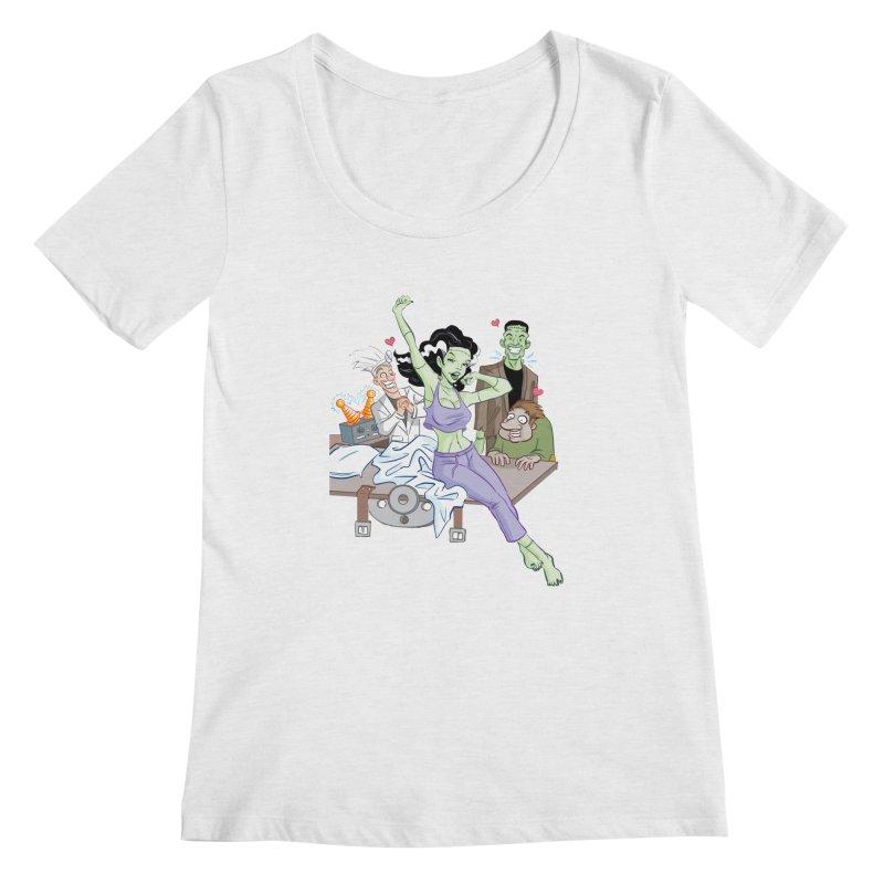 Bride of Frankenstein Pin Up Women's Scoop Neck by Twin Comics's Artist Shop
