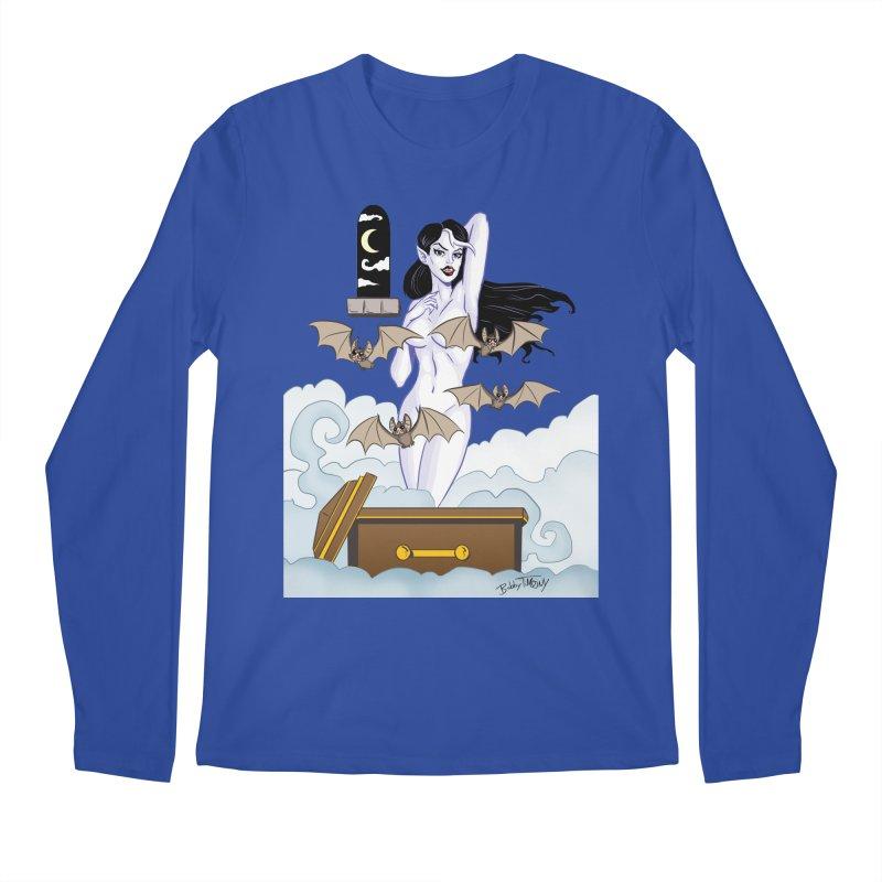 Vampire Pin Up Girl Men's Regular Longsleeve T-Shirt by Twin Comics's Artist Shop