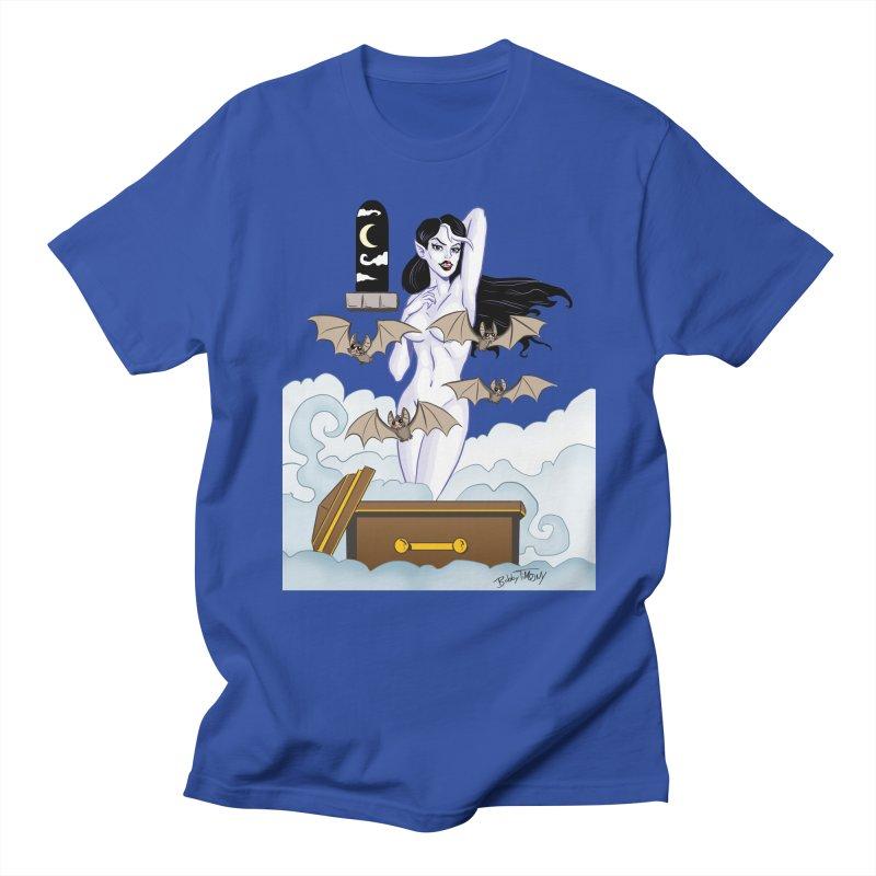 Vampire Pin Up Girl Men's Regular T-Shirt by Twin Comics's Artist Shop
