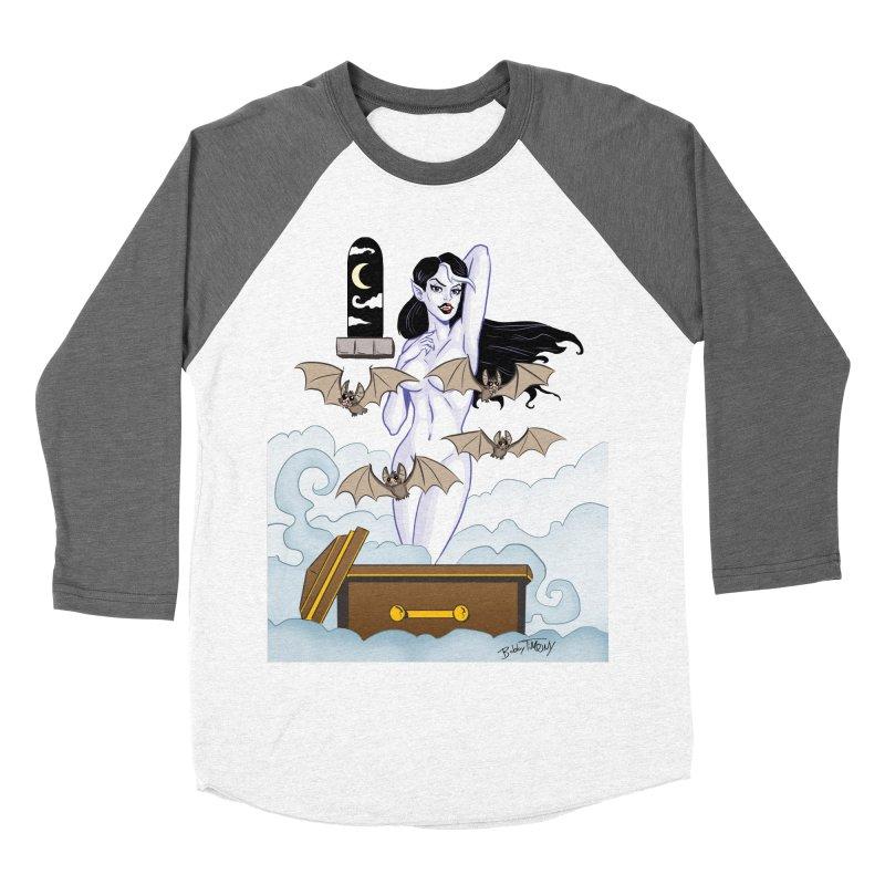 Vampire Pin Up Girl Women's Baseball Triblend Longsleeve T-Shirt by Twin Comics's Artist Shop