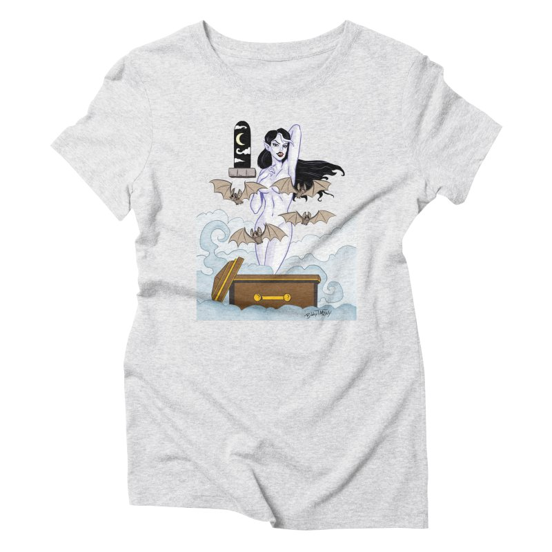 Vampire Pin Up Girl Women's T-Shirt by Twin Comics's Artist Shop