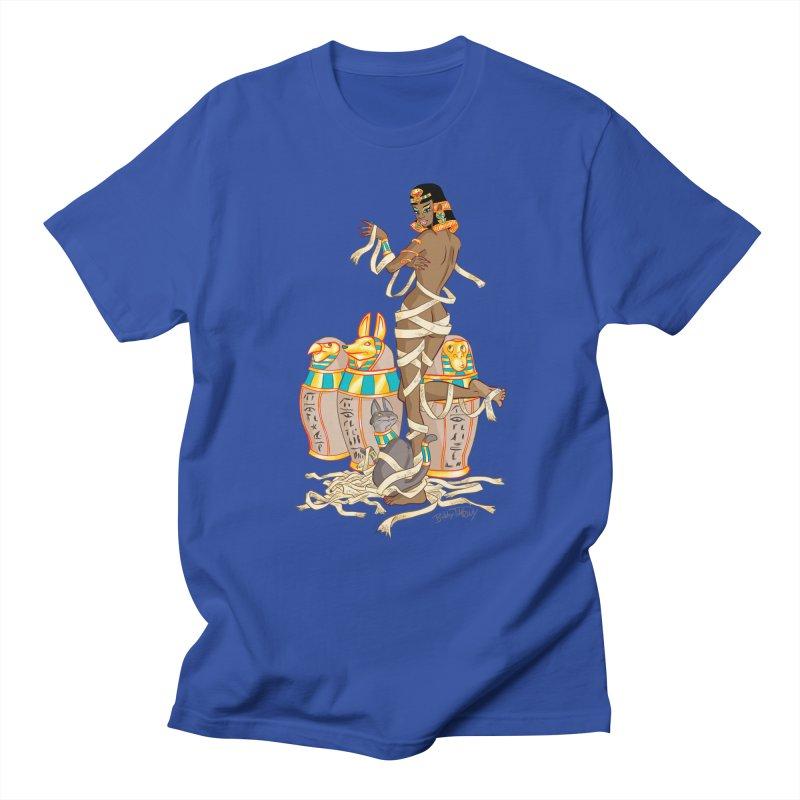 Mummy Pin Up Men's Regular T-Shirt by Twin Comics's Artist Shop