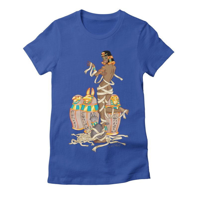 Mummy Pin Up Women's Fitted T-Shirt by Twin Comics's Artist Shop
