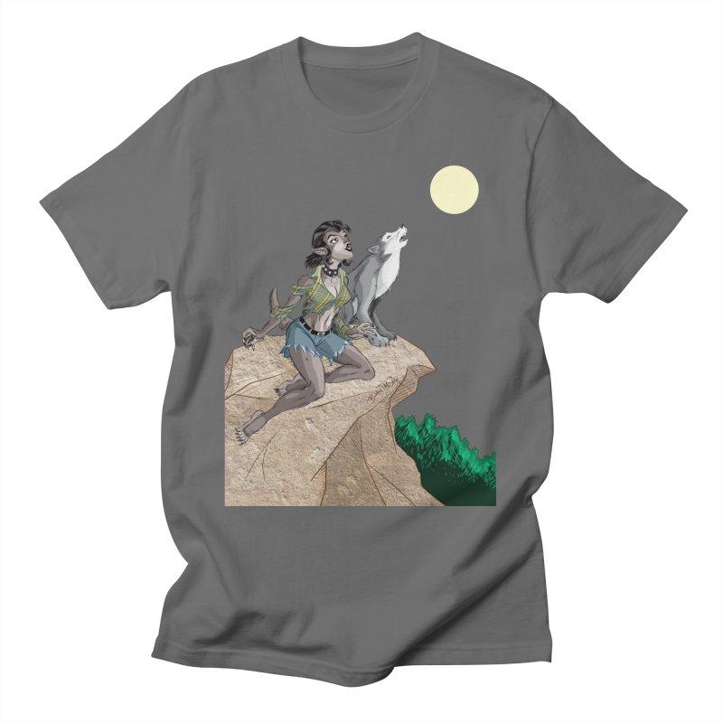 Werewolf Pin Up Girl Men's T-Shirt by Twin Comics's Artist Shop