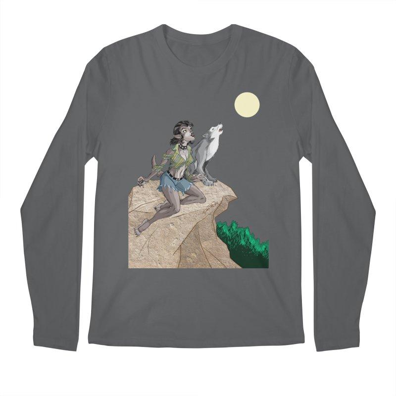Werewolf Pin Up Girl Men's Longsleeve T-Shirt by Twin Comics's Artist Shop
