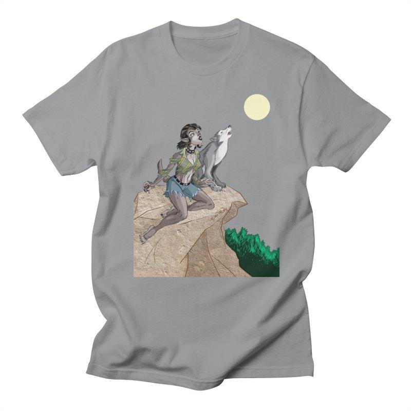 Werewolf Pin Up Girl Men's Regular T-Shirt by Twin Comics's Artist Shop