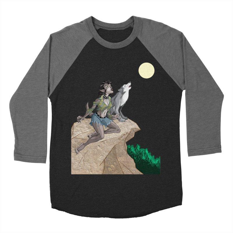 Werewolf Pin Up Girl Women's Baseball Triblend Longsleeve T-Shirt by Twin Comics's Artist Shop