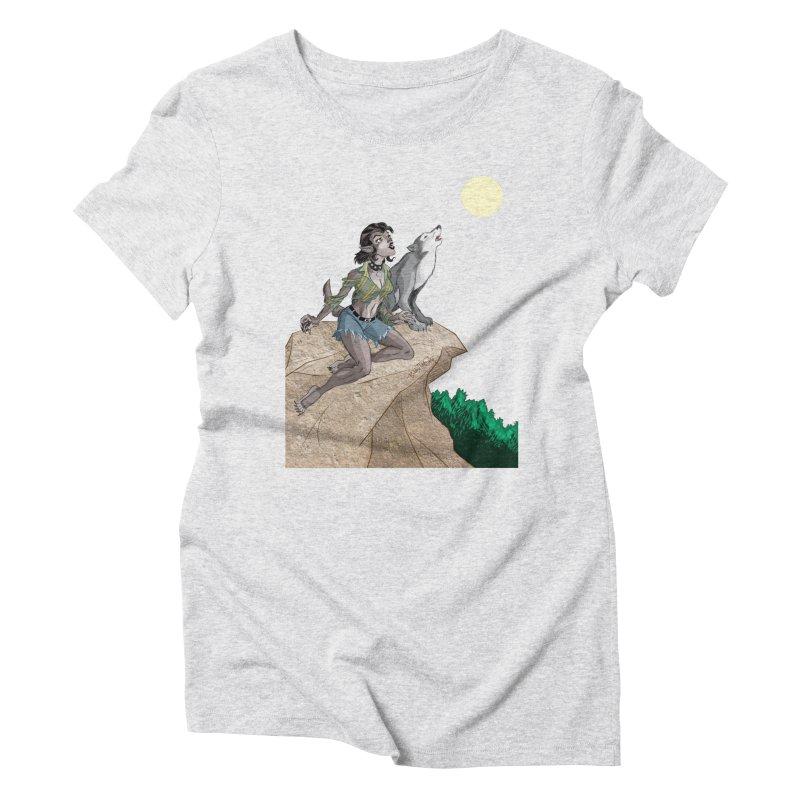 Werewolf Pin Up Girl Women's T-Shirt by Twin Comics's Artist Shop
