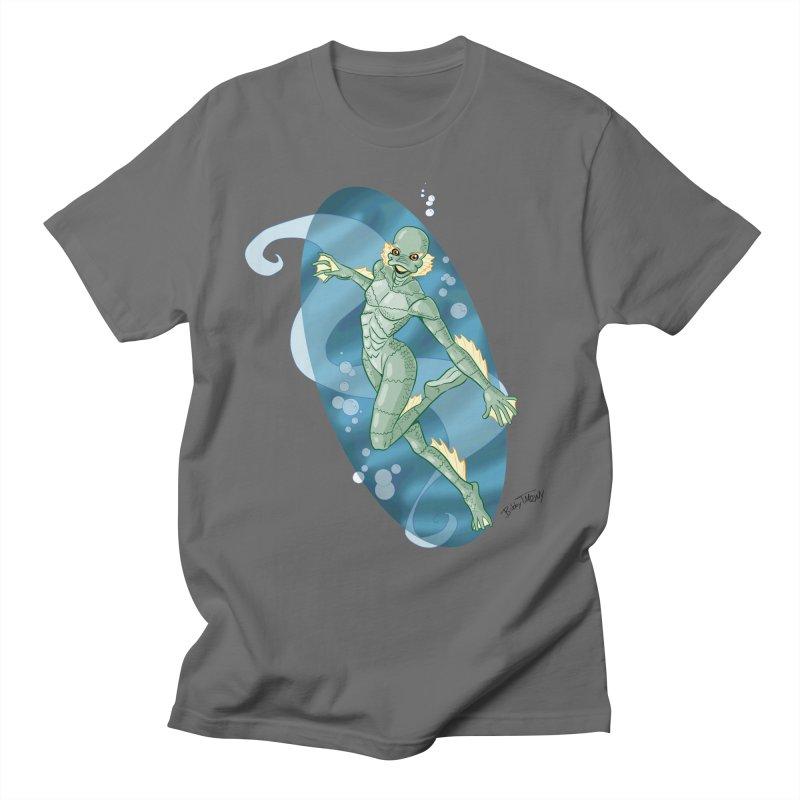 Lagoon Creature Pin Up Girl Men's T-Shirt by Twin Comics's Artist Shop
