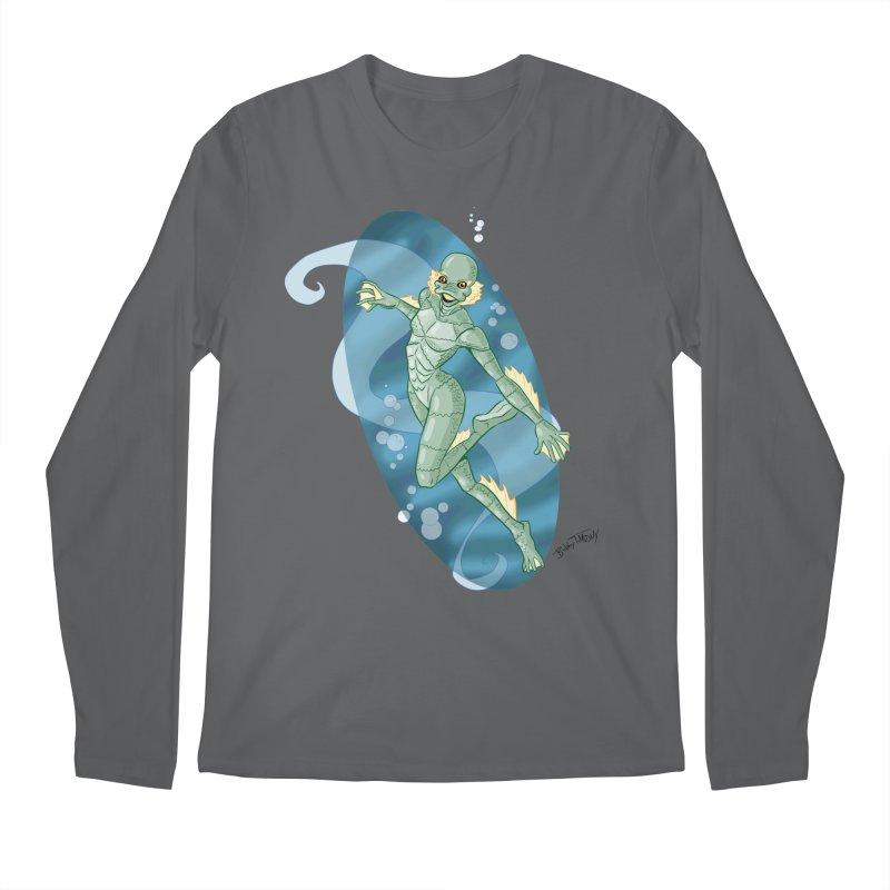 Lagoon Creature Pin Up Girl Men's Longsleeve T-Shirt by Twin Comics's Artist Shop
