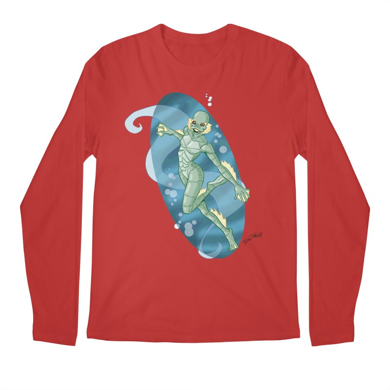 Lagoon Creature Pin Up Girl Men's Regular Longsleeve T-Shirt by Twin Comics's Artist Shop