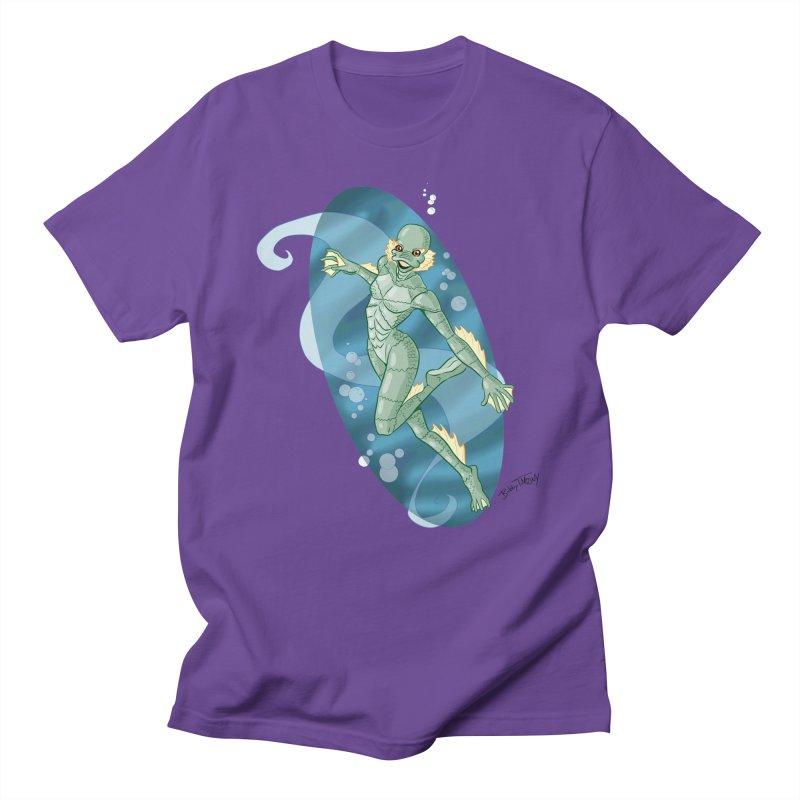Lagoon Creature Pin Up Girl Men's Regular T-Shirt by Twin Comics's Artist Shop