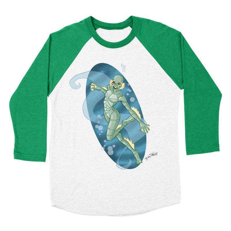 Lagoon Creature Pin Up Girl Women's Baseball Triblend Longsleeve T-Shirt by Twin Comics's Artist Shop