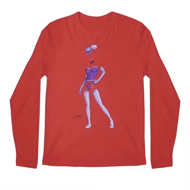 Invisible Woman Pin Up Girl Men's Regular Longsleeve T-Shirt by Twin Comics's Artist Shop