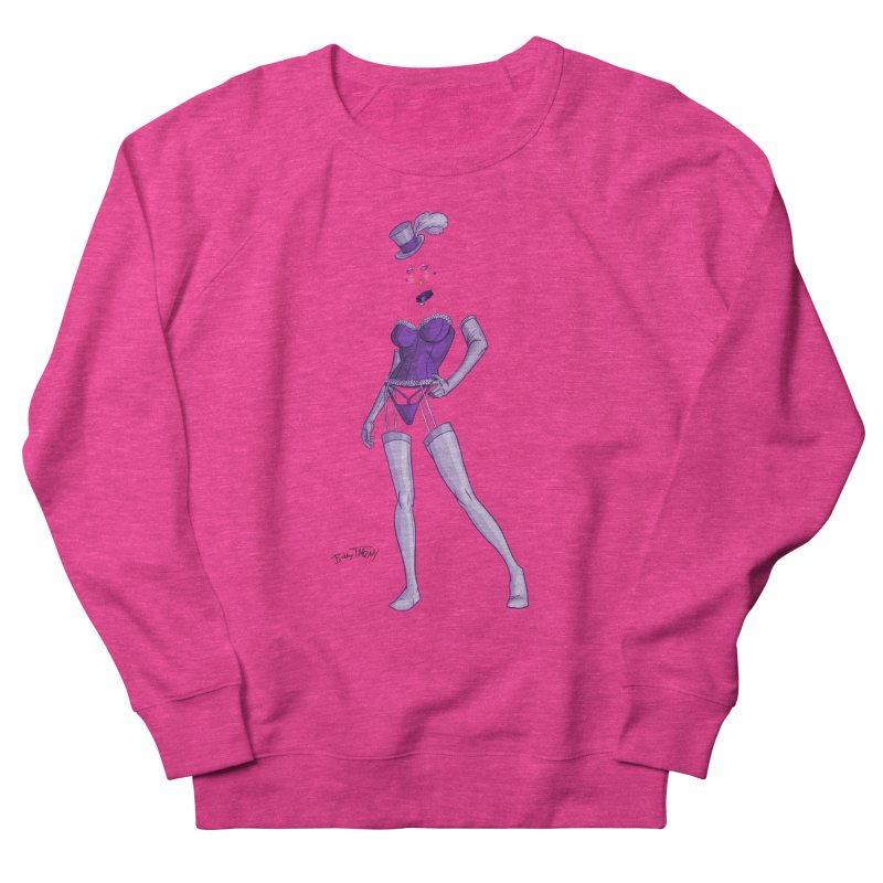 Invisible Woman Pin Up Girl Women's French Terry Sweatshirt by Twin Comics's Artist Shop