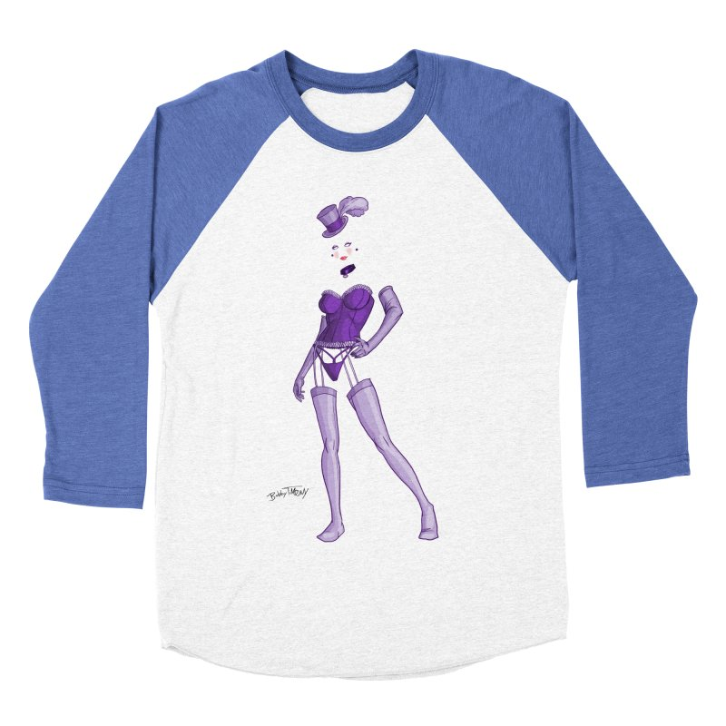 Invisible Woman Pin Up Girl Women's Baseball Triblend Longsleeve T-Shirt by Twin Comics's Artist Shop
