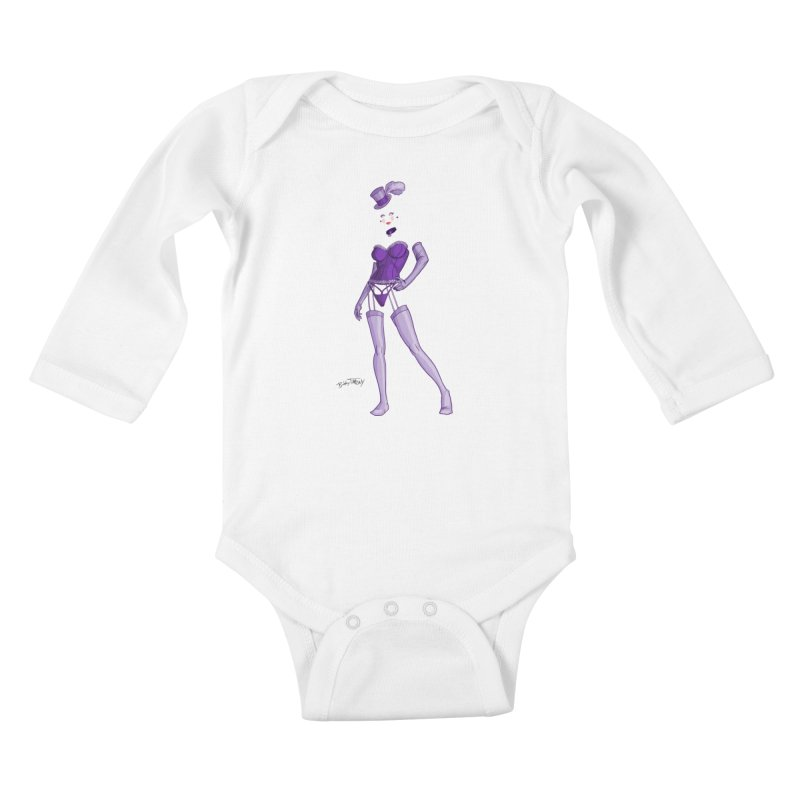 Invisible Woman Pin Up Girl Kids Baby Longsleeve Bodysuit by Twin Comics's Artist Shop