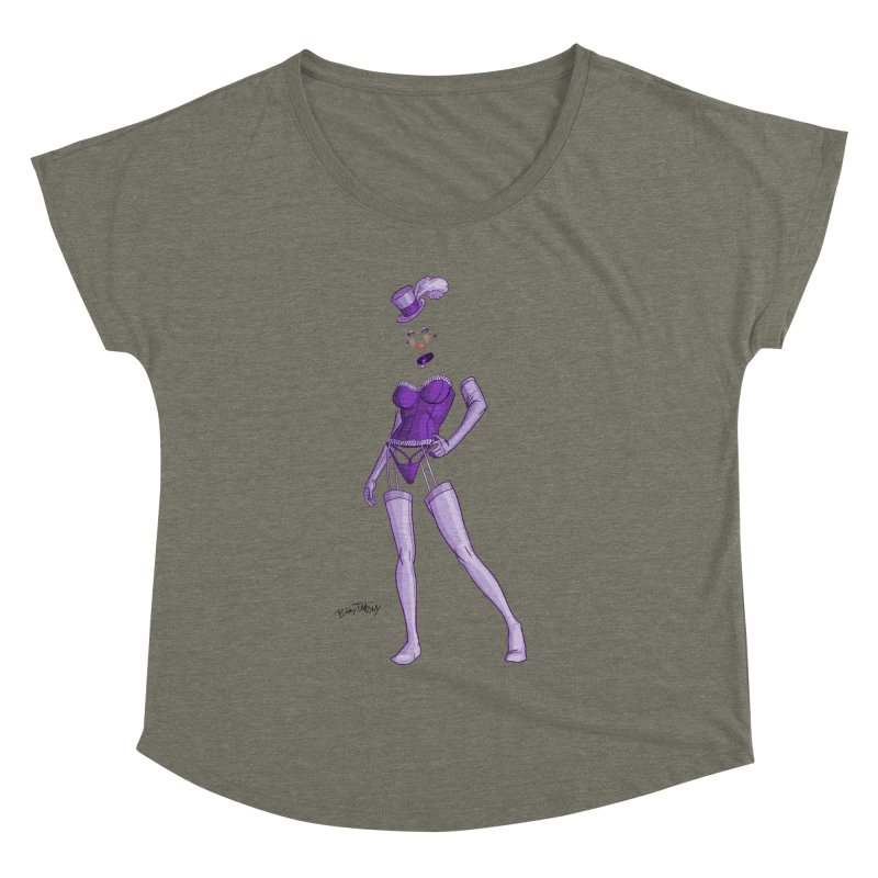 Invisible Woman Pin Up Girl Women's Dolman Scoop Neck by Twin Comics's Artist Shop