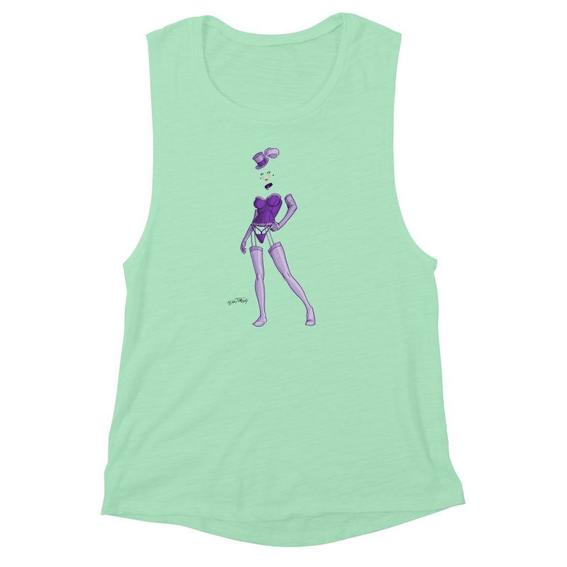 Invisible Woman Pin Up Girl Women's Muscle Tank by Twin Comics's Artist Shop