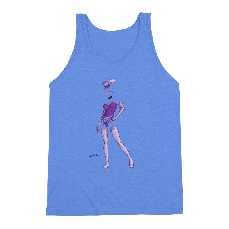 Invisible Woman Pin Up Girl Men's Triblend Tank by Twin Comics's Artist Shop