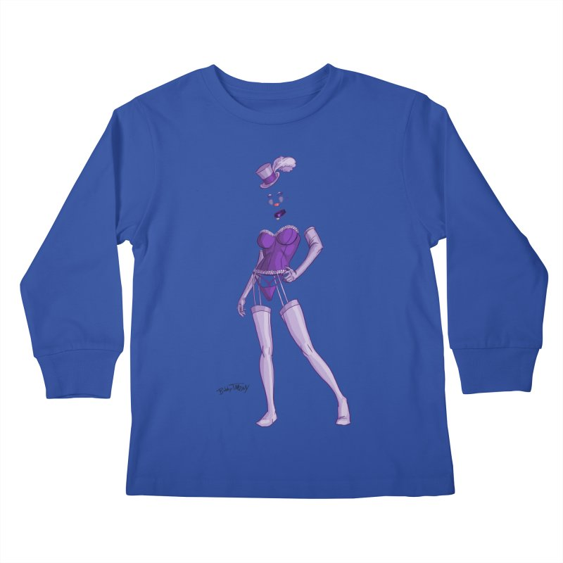 Invisible Woman Pin Up Girl Kids Longsleeve T-Shirt by Twin Comics's Artist Shop