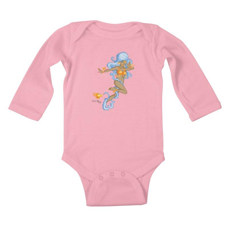 Genie Kids Baby Longsleeve Bodysuit by Twin Comics's Artist Shop