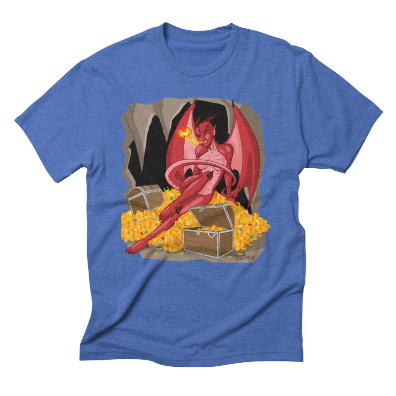 Dragon Pin Up Girl Men's T-Shirt by Twin Comics's Artist Shop