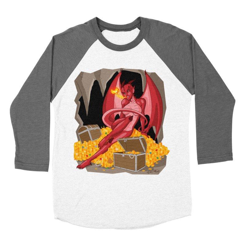 Dragon Pin Up Girl Women's Longsleeve T-Shirt by Twin Comics's Artist Shop