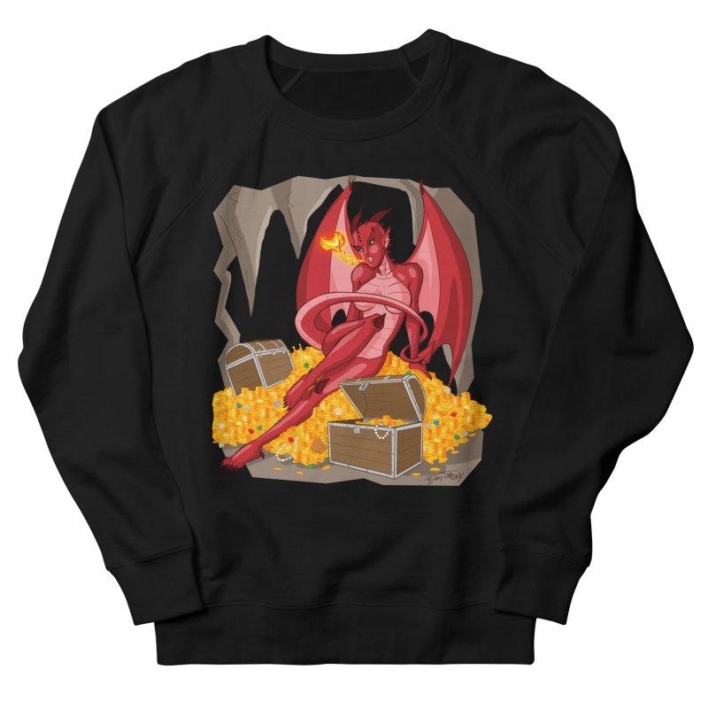 Dragon Pin Up Girl Women's French Terry Sweatshirt by Twin Comics's Artist Shop